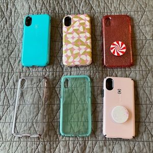 Lot of 6 iPhone X Phone Cases